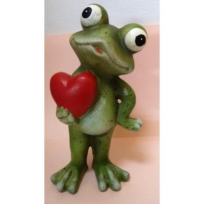 Figurka Żaba z czerwonym...