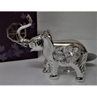 Srebrny słonik z...